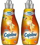 Cajoline Adoucissant Concentré Pêche et Coquelicot 1,5l 60 Lavages - Lot de 2