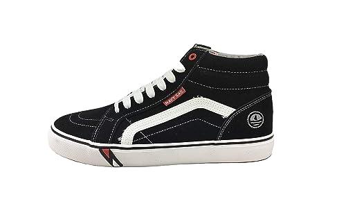 dettagli su navigare navy sail col nero scarpe sneakers uomo