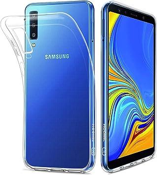 HOOMIL Transparente Silicona Funda para Samsung Galaxy A7 2018 ...
