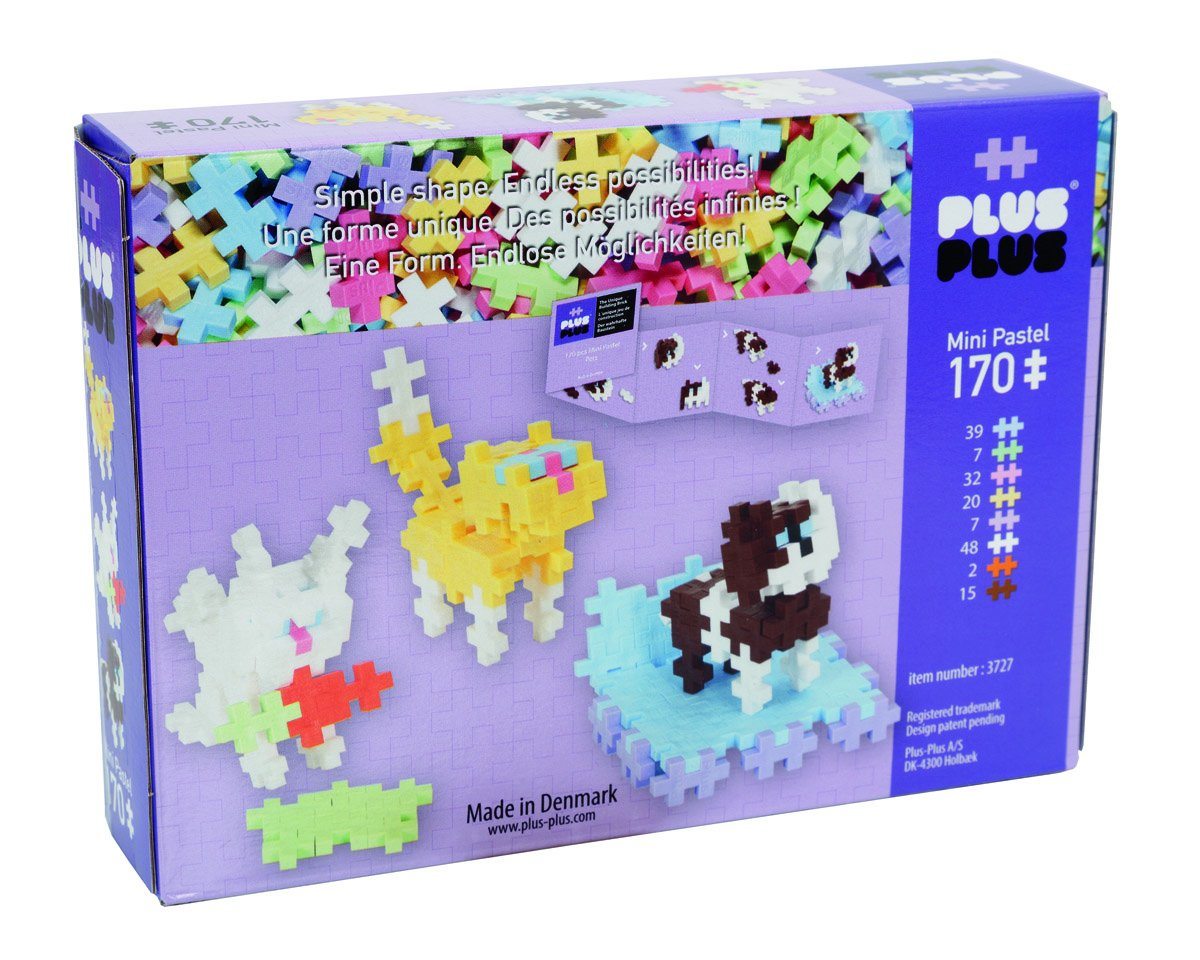 170 Piece Pets Geared For Imagination Toys 03727 Instructed Play Set Construction Building Toy Plus-Plus