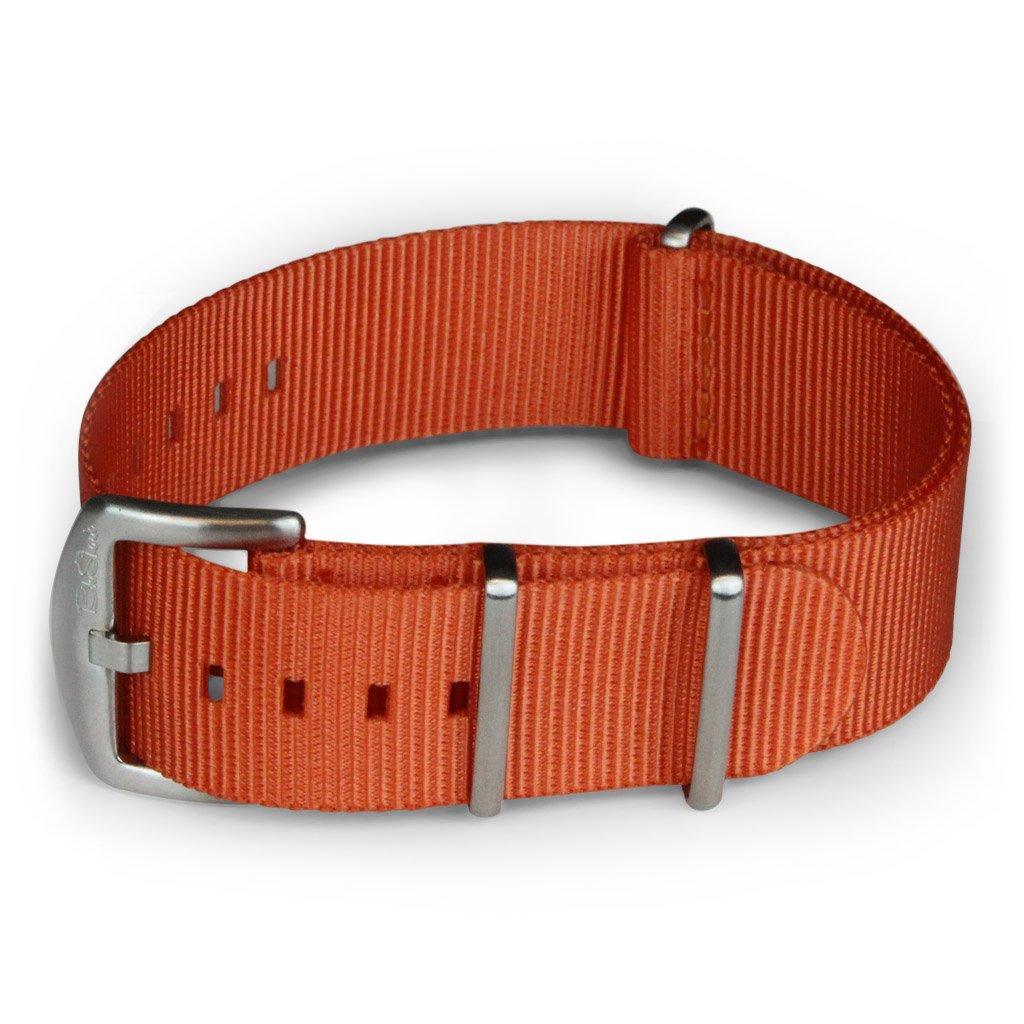 BluShark オリジナルプレミアムナイロン腕時計バンド 複数のサイズとスタイル 18mm オレンジ 18mm|オレンジ オレンジ 18mm B06XSBBCG9