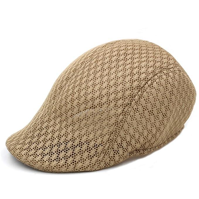 ab9b1693072 Hat Men  Summer Skynet yarn beret Elderly men forward cap  Spring cap  elderly