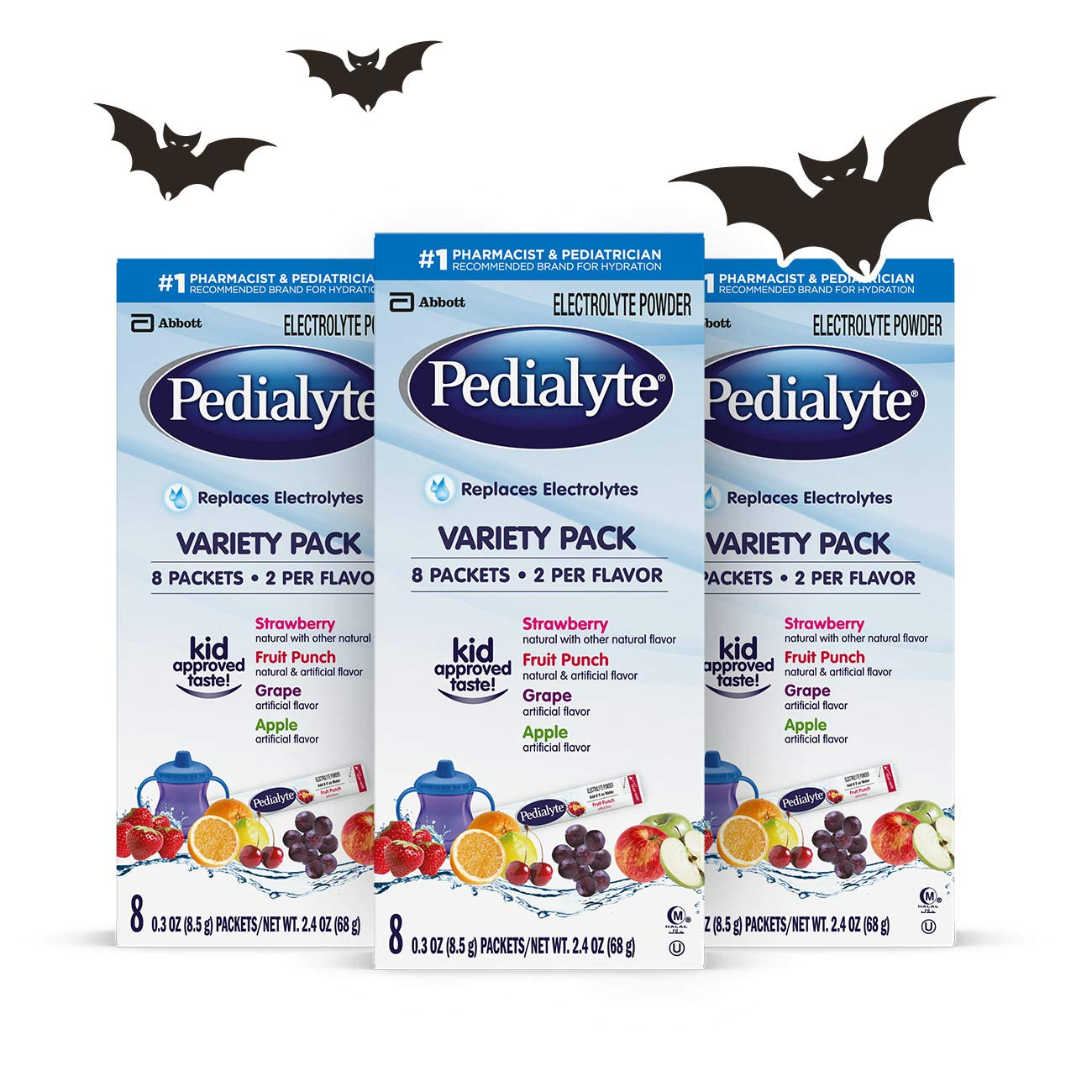 Pedialyte Electrolyte Powder, Variety Pack, Electrolyte Hydration Drink, 0.3 oz Powder Packs, 24 Count Abbott Laboratories 070074663630