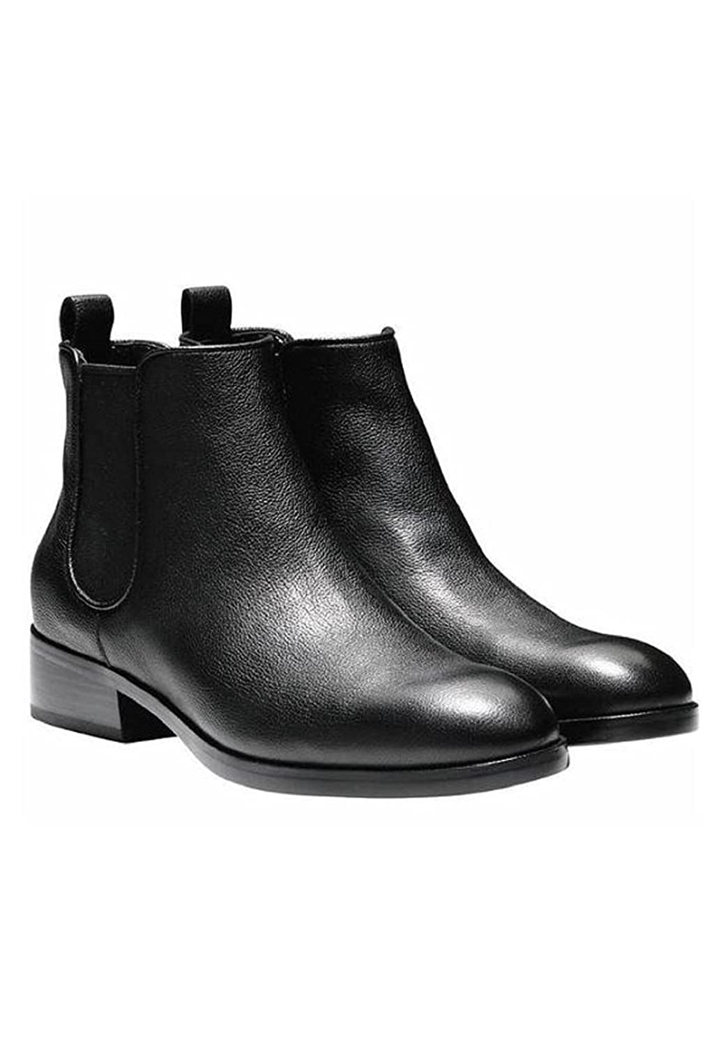 cf62823518f Cole Haan Women's Landsman Booties Short Leather Causal Ankle Boot Black