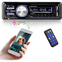 MATCC AutoRadio Radio de Voiture Audio USB/SD Port Lecteur MP3 Récepteur Bluetooth Mains Libres Support Télécommande Voiture Bluetooth Stéréo