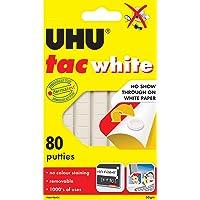 UHU Re-Usable Tac 80 Adhesive Putties, White, (33-39565)