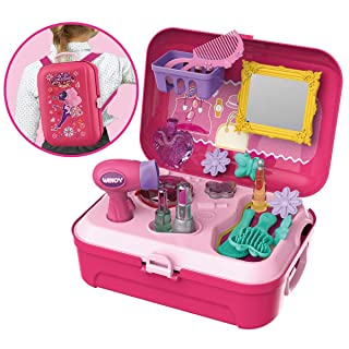 Giocattolo di Bellezza Valigetta Set Fingere il Principessa Rosa per Bambini 3 4 5 6 anni