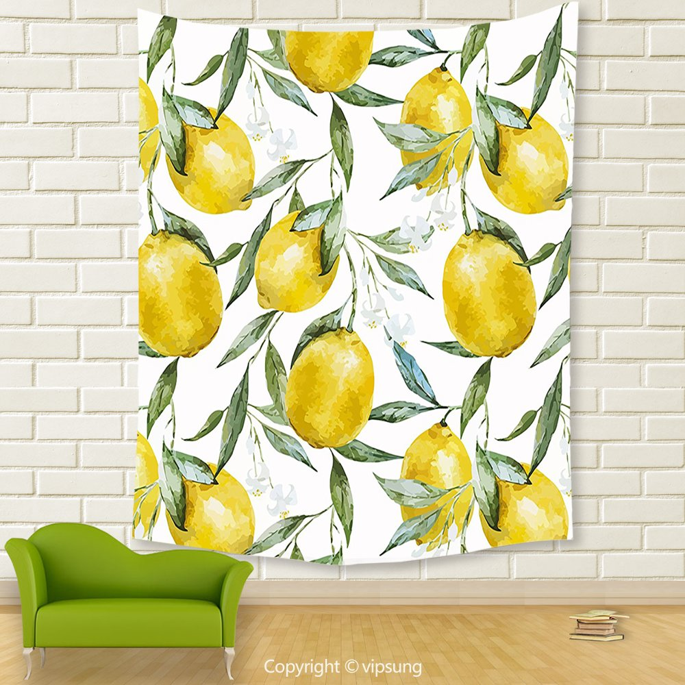 Amazon.com: Vipsung House Decor Tapestry_Nature By Vibrant Citrus ...