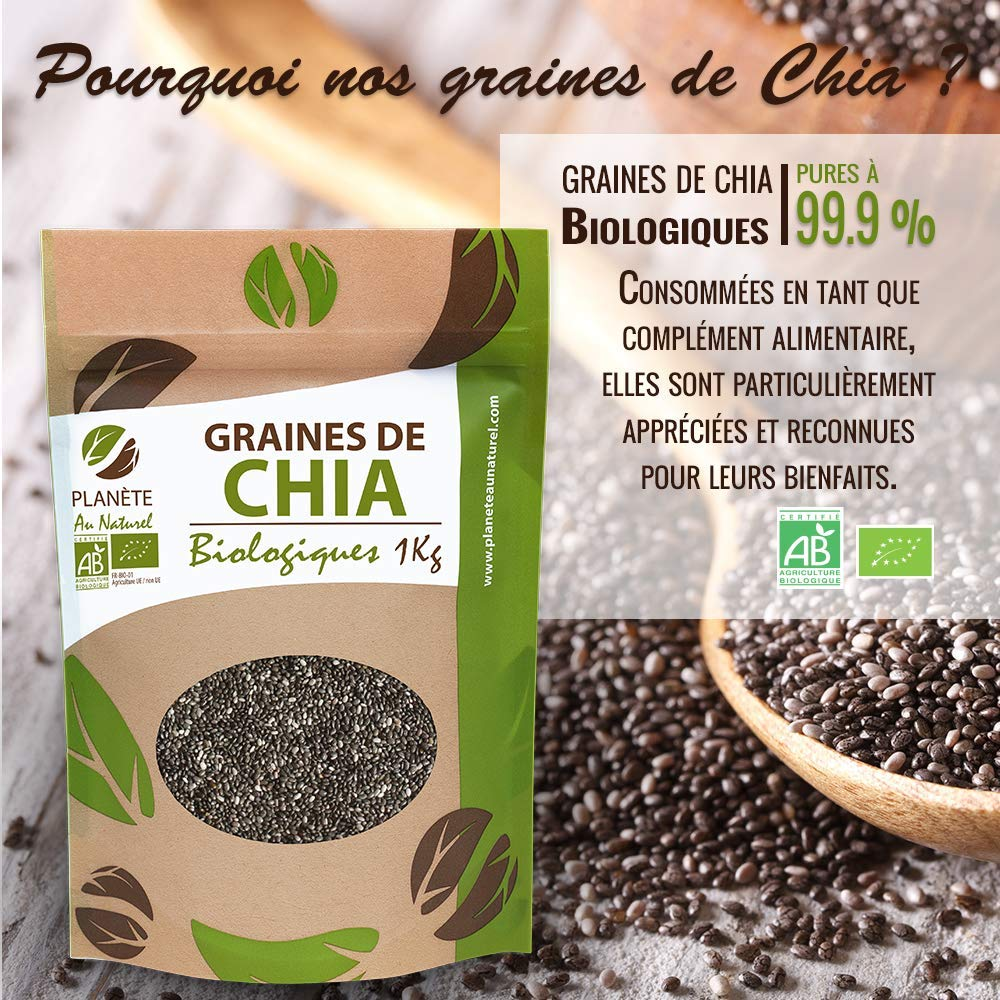 Semillas orgánicas de chía (Salvia Hispanica) - 1 kg: Amazon ...