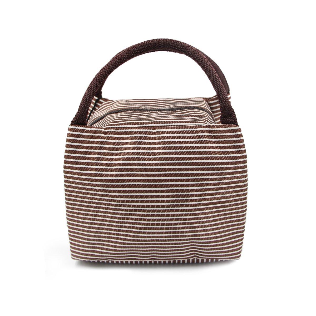 Puersit, borsa termica a secchiello, per pranzo, picnic, da viaggio, Nylon, Brown, 0.2*0.17