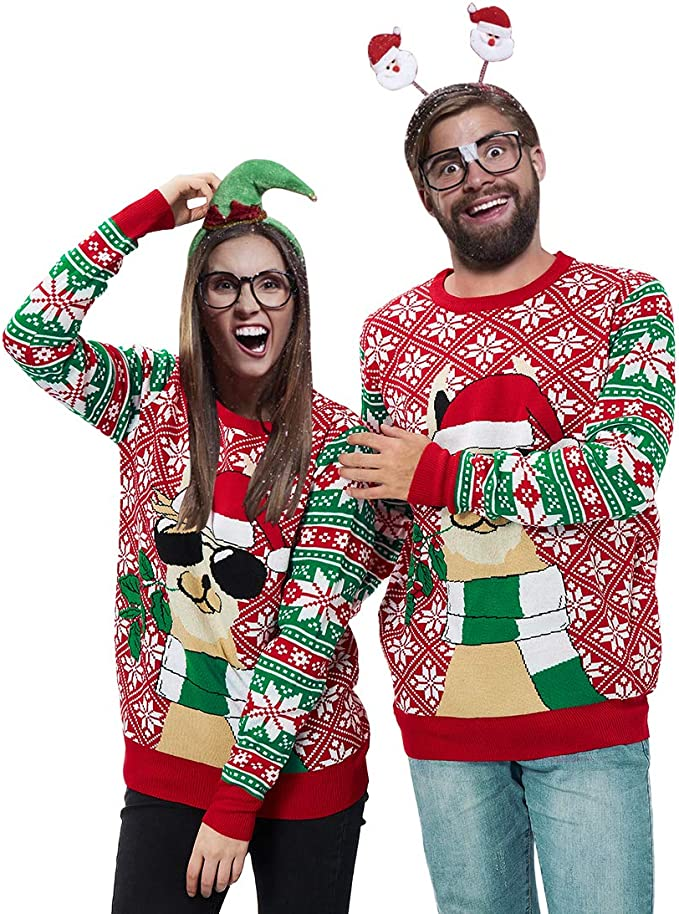 3D Graphic Ugly Christmas Sweater Funny Holiday Sweater Best Ugly Christmas Sweaters Ever for couples