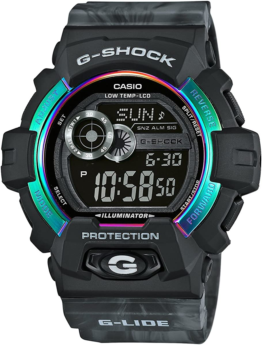 G-Shock GLS-8900AR-1 G-lide Series Luxury Watch – Black and Grey One Size