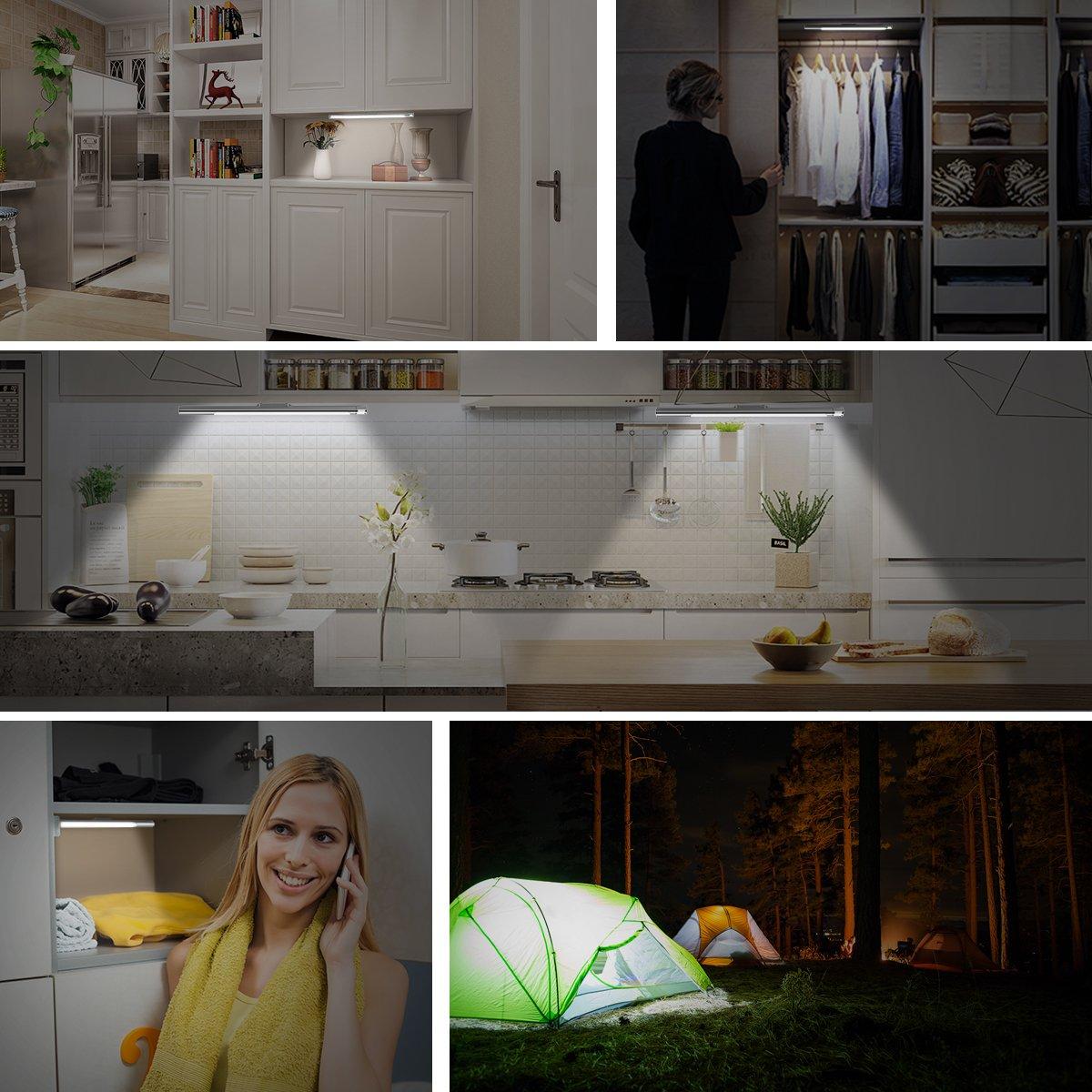Motion Sensor Closet Light, Upgraded Rechargeable 39 LED Wardrobe Light Stick-on Anywhere Under Cabinet Lighting/Hallway / Closet/Night Light Bar, 2 Sensor Mode (Only Motion, Motion & Light) by LOFTER (Image #2)