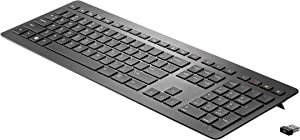 HP Collaboration - Wireless Keyboard - 2.4 GHz - Black