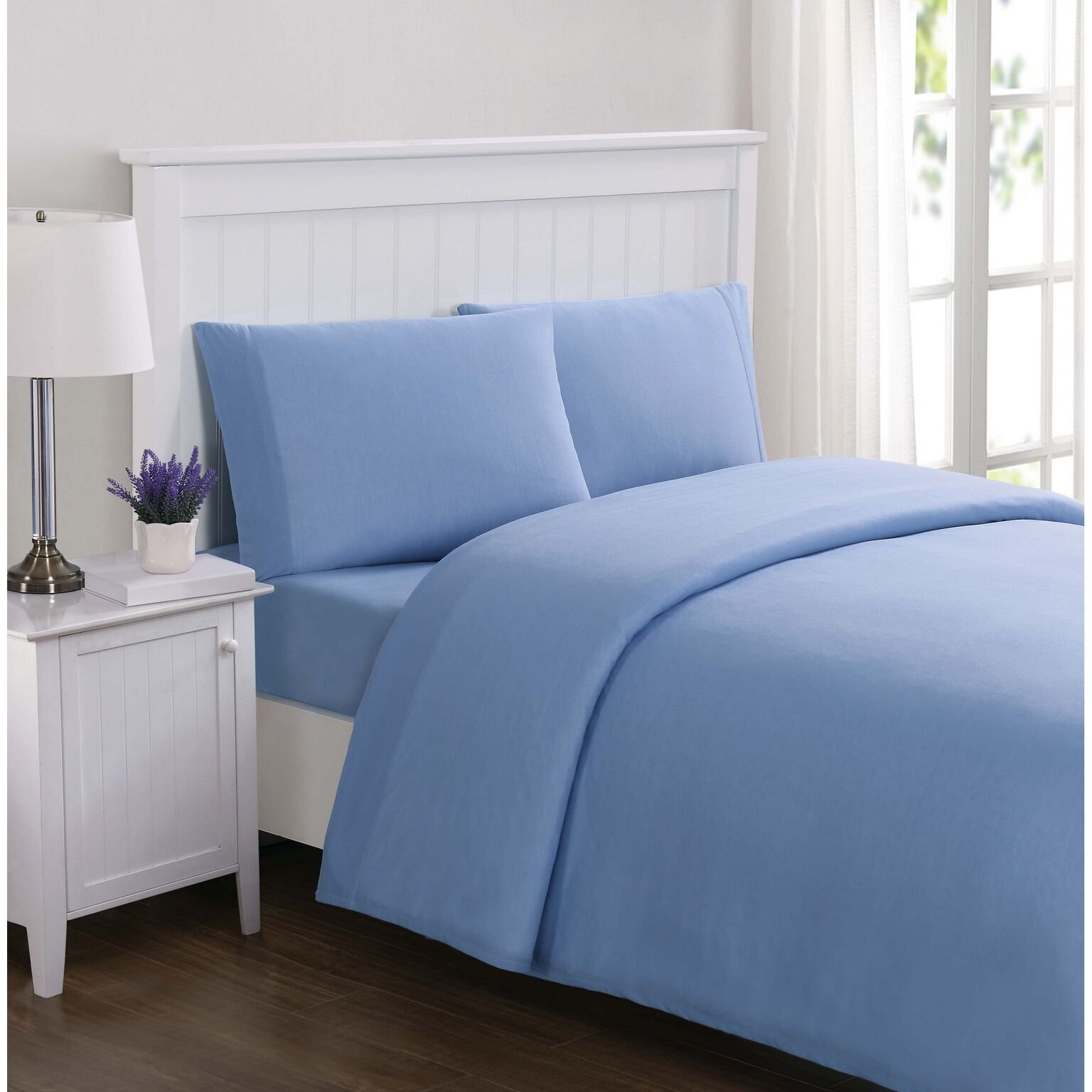 Truly Soft Solid Jersey XL Sheet Set, Twin X-Large, Blue