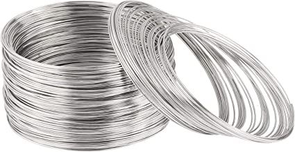 100 Loops Jewelry Memory Wire Steel Necklace for Jewelry making and DIY Craft