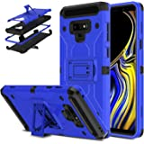 DONWELL Galaxy Note 9 Hybrid Shockproof Heavy Duty Rugged Full Body Protective Cover Built-in Rotating Kickstand and Swivel Belt Clip Holster Case for Galaxy Note 9 / SM-N960U (Blue)