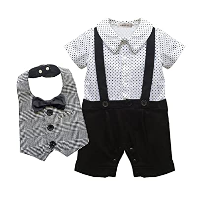 18344e177718 stylesilove Infant Toddler Young Kids Baby Boy Star Print Tuxedo ...