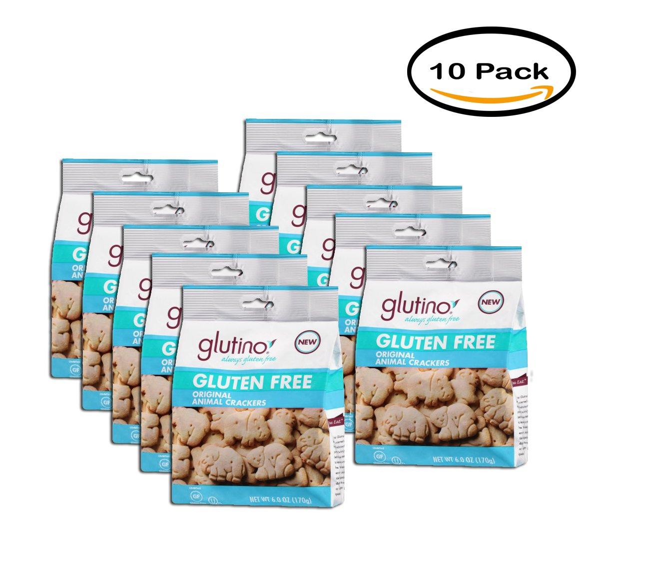 PACK OF 10 - Glutino Gluten Free Original Animal Crackers, 6 oz