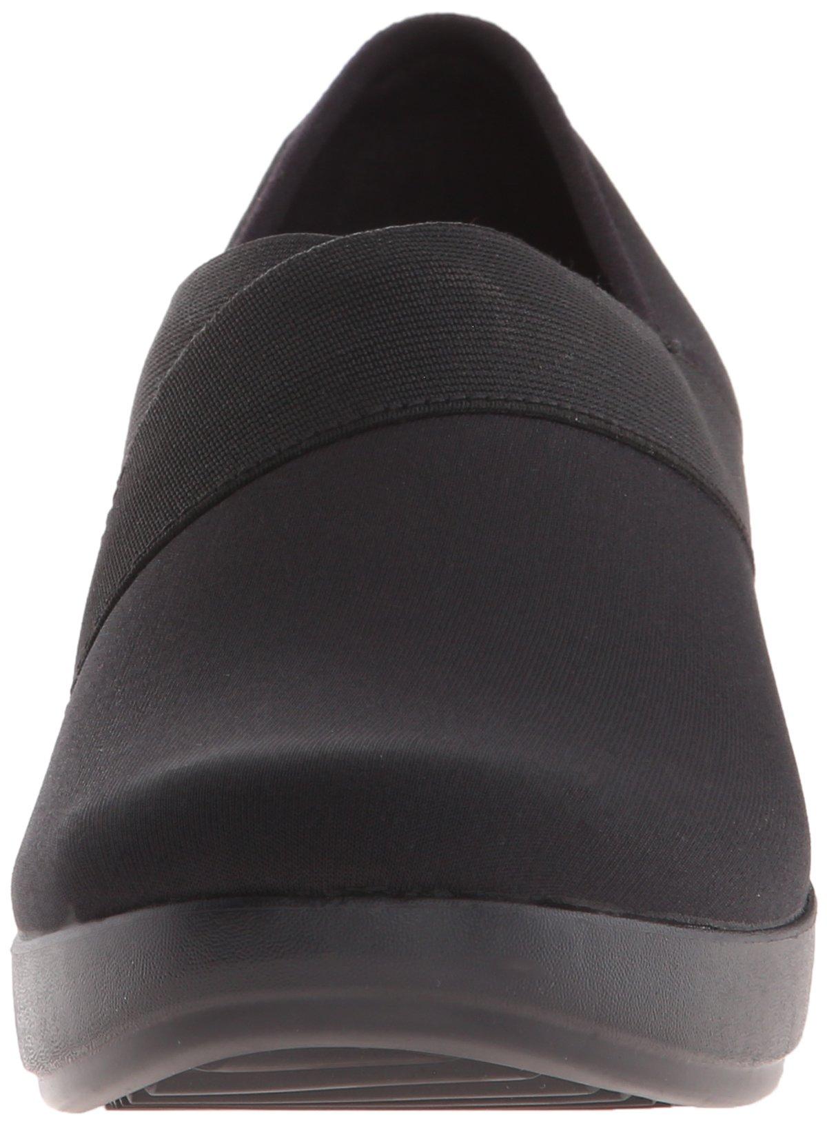 Crocs Women's Busy Day Stretch Asymmetrical Wedge Flat, Black/Black, 10 M US by Crocs (Image #4)