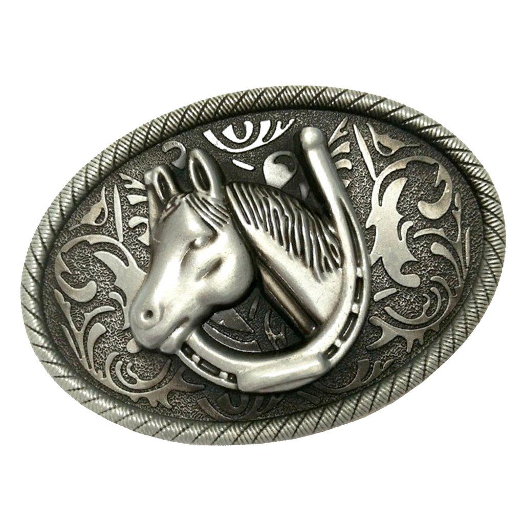 Baosity Fibbia Cintura In Disegno Vintage Attrezzo Moda Di Stilo Cavallo Regalo Per Uomini 8 2*6 3cm