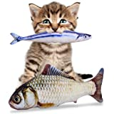 PETLESO Catnip Toys for Cats - Refillable Fish Catnip Toy for Cats Meow