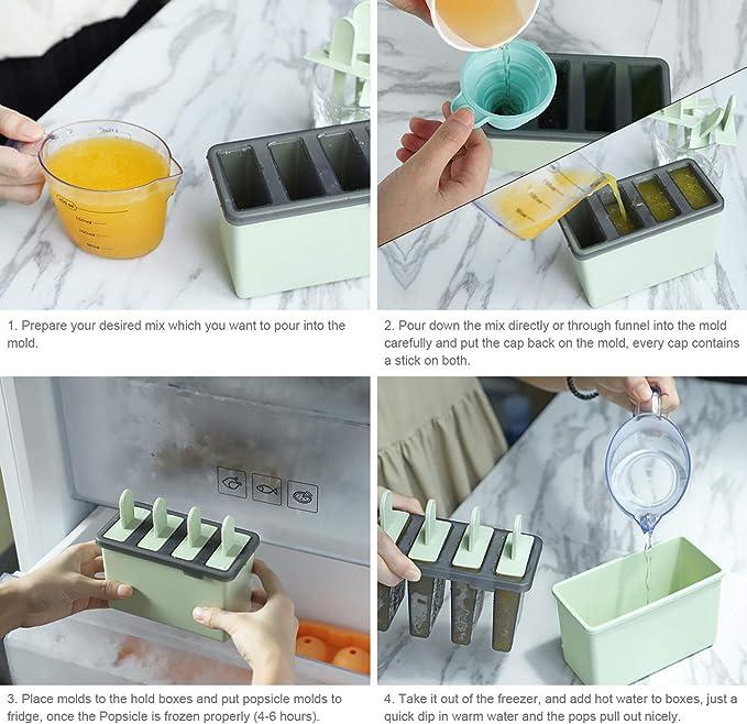 Amazon.com: Kootek - Juego de 8 moldes de helado ...