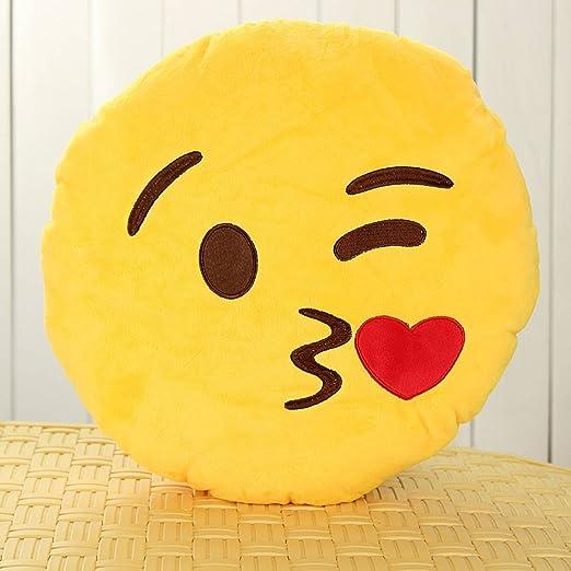 King DO WAY 18 tipos amarillo suave cojín redondo Emoji ...