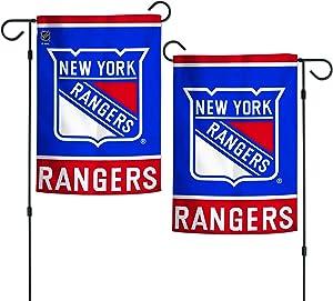 "WinCraft NHL New York Rangers 12.5"" x 18"" Inch 2-Sided Garden Flag Logo/Text"