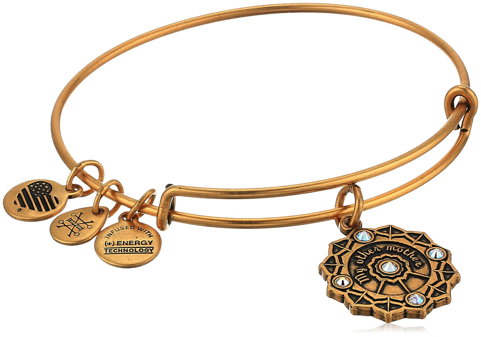 Alex and Ani Mother of the Groom Charm Bangle, Rafaelian Gold, Expandable