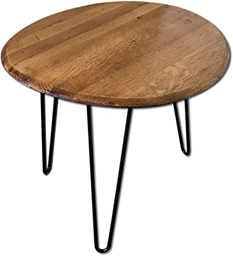 Reclaimed Kentucky Bourbon/Whiskey Barrel Heads End Table Review