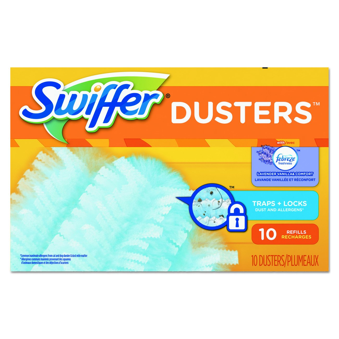 Swiffer 21461 Refill Duster, Dust Lock Fiber, Lavender Vanilla Scent, 4'' Width, 6'' Length, Light Blue (Pack of 40)
