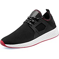 Men Casual Sports Running Shoes Air Trainers Jogging Fitness Shock Absorbing Gym Athletic Sneakers Black