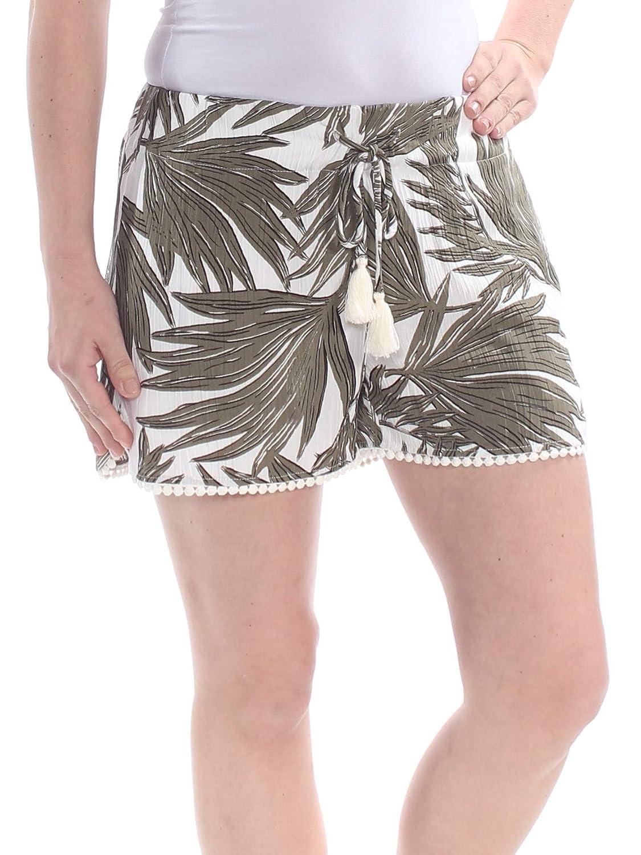 1 STATE $79 Womens New 1376 Green Pocketed Drawstring Short XS B+B