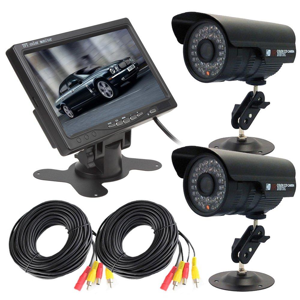 【送料無料(一部地域を除く)】 屋外用監視カメラ2台+7インチモニターセット 延長ケーブル付属 FMTVGA7+CB20B101X2 赤外線暗視仕様カメラ VGA入力対応モニター FMTVGA7+CB20B101X2 B01HE8A3UC, 画材、額縁、コピックの「風の門」:161e52cd --- a0267596.xsph.ru