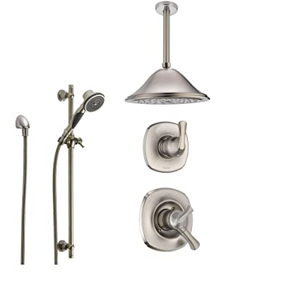 Delta Addison Stainless Steel Shower System With Dual Control Shower