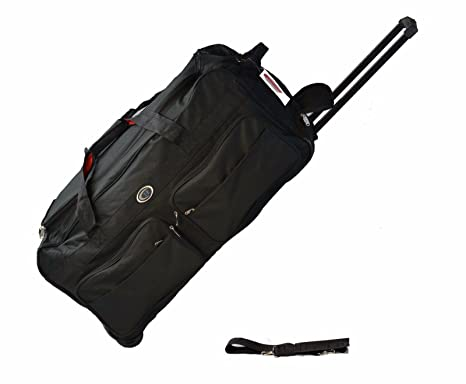 d7d920010 30 Inch Wheeled Duffle Bag luggage Suitcase BLACK 60 LB Capacity (Black)