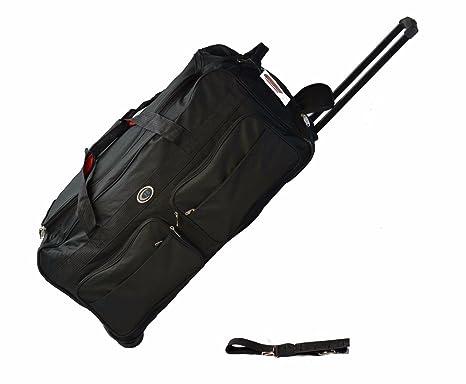 8aa5bad0cf 30 Inch Wheeled Duffle Bag luggage Suitcase BLACK 60 LB Capacity (Black)