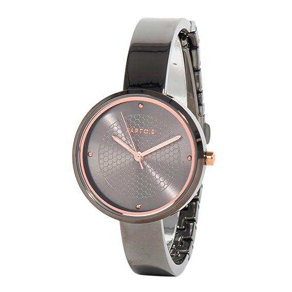 Parfois - Reloj Round - Mujeres - Tallas Única - Níquel Negro: Amazon.es: Relojes