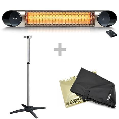 Veito calefactor de infrarrojos Blade Sr Juego de 2500 W, incluye trípode, aircape cubierta