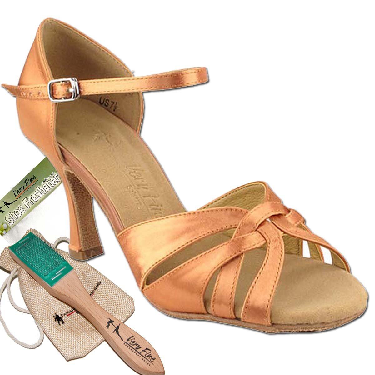 [Very Fine Dance Shoes] レディース B00H7BL7LG タン サテン 9.5 (B,M) US