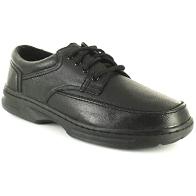019504fabf78 Dr Keller Mens Men s Wide Fit Padded Collar Shoes Real Leather Wider Fitting  Cushioned Insole Lightweight
