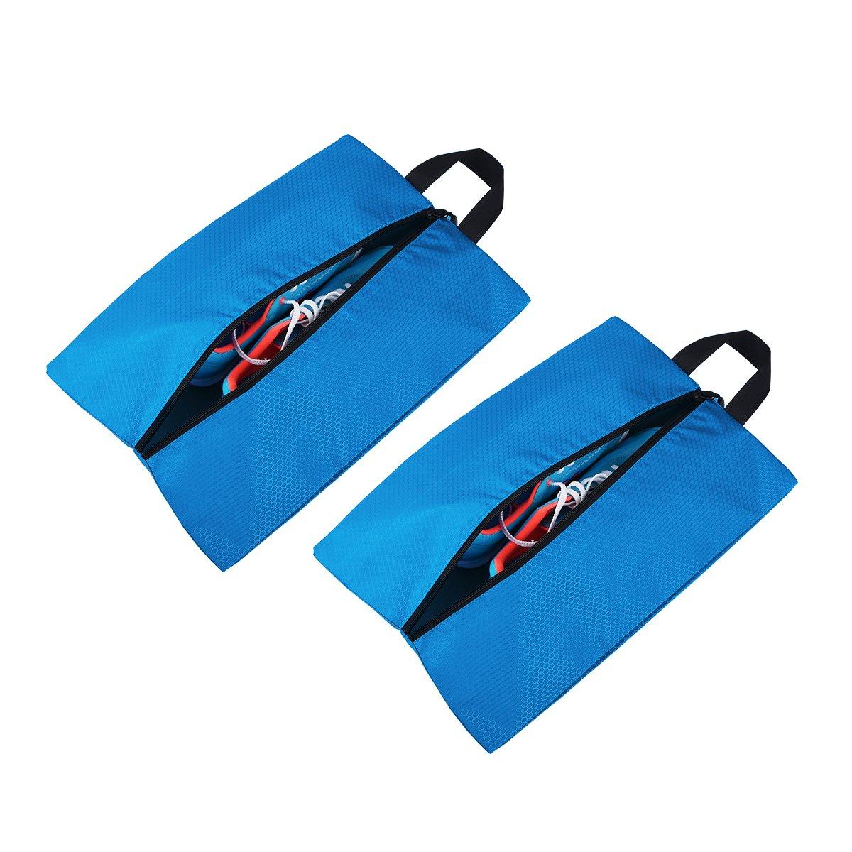 Tyhbelle Schuhtasche 2er Set   Wasserfeste Schuhbeutel Reise, Koffer, Gepäck (2er-Schuhtasche,Blau) Gepäck (2er-Schuhtasche bbJJSN0090 Schuhtasche Blau
