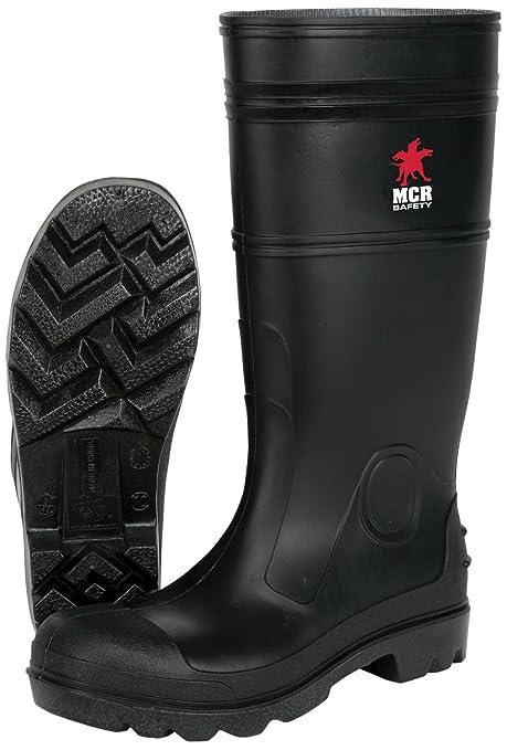 d787aee9cd0 MCR Safety PBP12013 Waterproof PVC Men's Knee Boot with Plain Toe, Black,  Size 13, 1-Pair