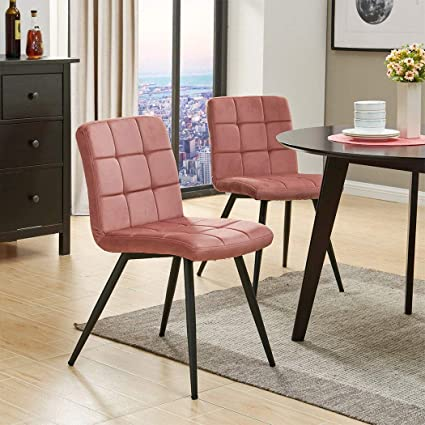 Duhome Eames Dining Chair,Modern Velvet Accent Chairs Easy Assembly