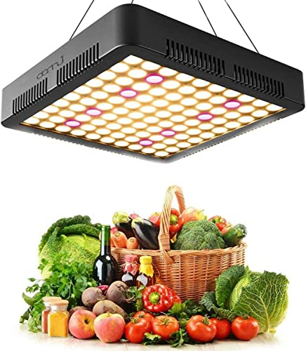 Danhui 1000W LED Grow Light Sunlike Full Spectrum Plant Panel Light for Greenhouse Seed Flower Vegetable Hydroponics Grow Lamp 25825845mm, Black – 1000W