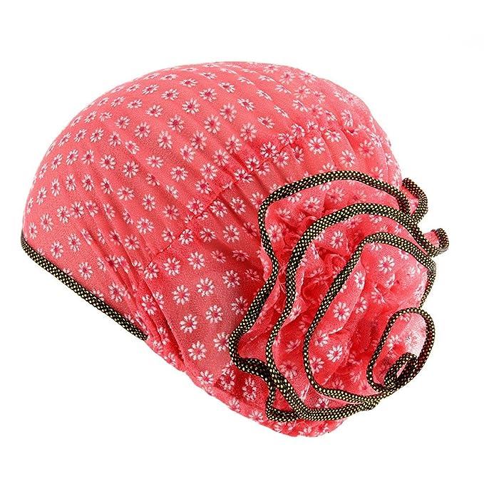Kobay Cappello Musulmano a Turbante Elasticizzato per Donna Cappello  Chemisier Berretto per Capelli a Testa di 687ccb3ea157
