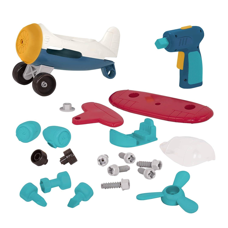 Take-Apart Airplane Battat Colorful Take-Apart Toy Airplane for Kids