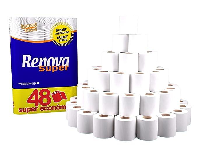 Renova 48 - 2 Ply Toilet Roll Tissue Paper Bulk Wholesale Rolls