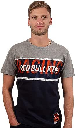 Red Bull KTM Letra T-Camisa, Gris Hombres Camisa Manga Larga, KTM Factory Racing Original Ropa & Accesorios
